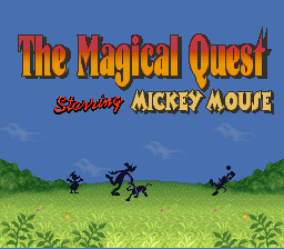 Magical Quest Starring Mickey Mouse, The - Mickey,Donald,Goofy and Pluto playing catch. - User Screenshot